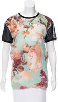Jean Paul Gaultier Soleil Floral Print Crew Neck Top w/ Tags