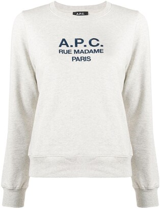 A.P.C. Long Sleeve Logo Sweater