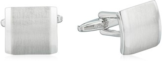 Kenneth Cole Reaction Men's Brushed Silver Cufflinks