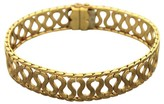 Buccellati 18K Yellow Gold Wavy Snake Brushed Bracelet