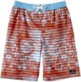 Big Chill Campfire Stripe Board Shorts - Boys