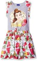 Disney Little Girls' Beauty and the Beast Belle Dress, Heather Grey