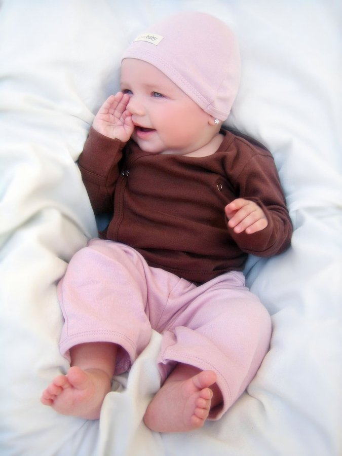L'ovedbaby Signature Pants - Think Pink NB