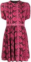 BA&SH snakeskin-print short dress