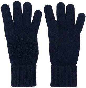 Barrie Knitted Logo Gloves