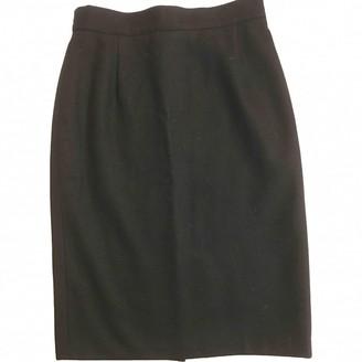 Cacharel Black Wool Skirt for Women Vintage