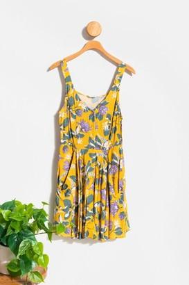 francesca's Gianna Button Down Mini Dress - Mustard