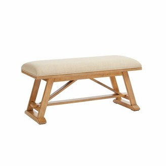 Harriet Bee Consuelo Upholstered Bench Color: French Toast