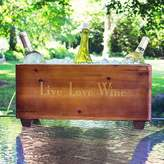 """Cathy's Concepts Live Love Wine"""" Wooden Wine Trough"""