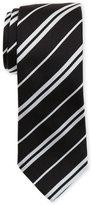 Givenchy Black & White Diagonal Stripe Silk Tie