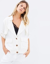 Moon River Rolled Up Sleeve Jacket