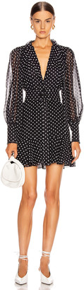 Alexis Ivette Dress in Black Embroidered Dot | FWRD
