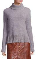 MICHAEL Michael Kors Merino Wool & Cashmere Fringe Hem Sweater