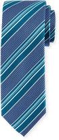Bugatchi Striped Silk Tie, Classic Blue