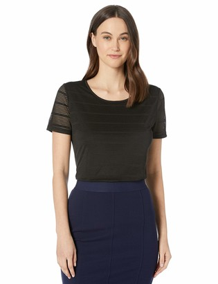 Calvin Klein Women's Shadow Stripe T-Shirt