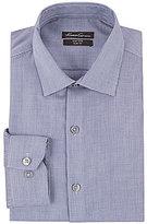 Kenneth Cole New York Non-Iron Slim-Fit Spread-Collar Dobby Pattern Dress Shirt