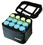 Conair Instant Heat Compact Hot Rollers w/ Ceramic Techology; Black Case with Blue and Green Rollers