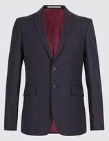 Marks and Spencer Big & Tall Blue Slim Fit Jacket