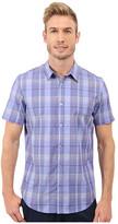 Calvin Klein Classic Fit Window Plaid Short Sleeve Shirt