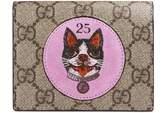Gucci GG Supreme card case with Bosco patch