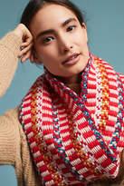 Caroline Kaufman Grid-Stitched Cowl