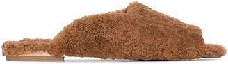 Deiji Studios Square-Toe Shearling Slippers