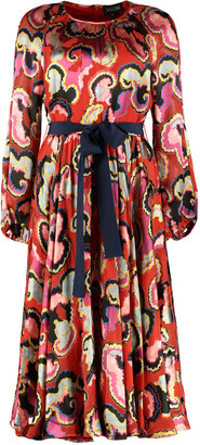 Saloni Poppy Belted Waist Dress