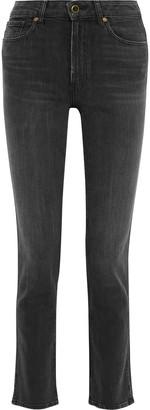 KHAITE Victoria Faded High-rise Straight-leg Jeans