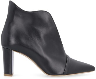 Malone Souliers Clara Leather Pointy-toe Ankle-boots