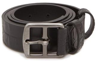 Andersons Crocodile-effect Leather Belt - Black