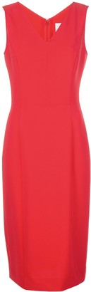 Carolina Herrera V-Neck Sleeveless Sheath Dress