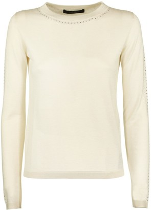 Max Mara Solange Diamante-embellished Silk And Cashmere-blend Jumper