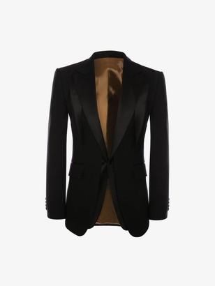Alexander McQueen Wool Gabardine Trompe L'il Tuxedo Jacket