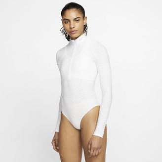 Nike Women's Seamless Long-Sleeve Training Bodysuit City Ready