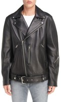 Acne Studios Men's Nate Belted Leather Moto Jacket