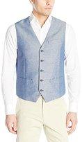 Perry Ellis Men's Linen Cotton Twill Suit Vest
