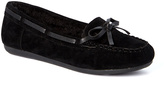 Black Bow-Accent Moccasin
