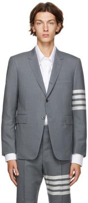 Thom Browne Grey 4-Bar Classic Sport Coat Blazer