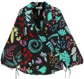 Rixo Orlagh Printed Silk Blouse