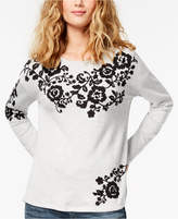 INC International Concepts Embroidered Sweatshirt, Created for Macy's