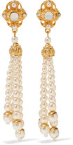 Ben-Amun Gold-Plated Faux Pearl, Stone And Crystal Earrings