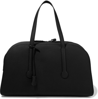The Row Sporty Bowler 19 Pebbled-leather Tote