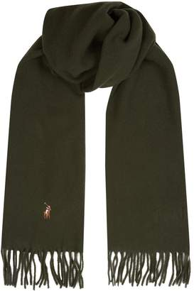 Polo Ralph Lauren Polo Pony Embroidered Wool Scarf