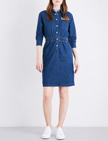 Mo&Co. Racing-patch denim dress