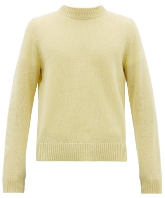 Acne Studios Crew-neck Wool Sweater - Mens - Light Yellow