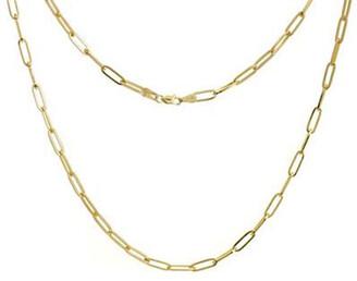 Elemental Rectangular Chain Necklace - Yellow Gold