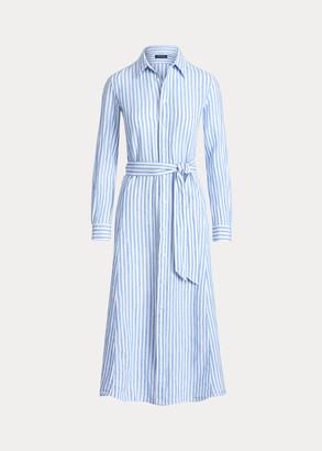 Ralph Lauren Striped Linen Shirtdress