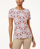 JM Collection Printed Jacquard Top, Only at Macy's
