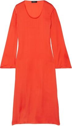 Theory Silk-satin Midi Dress