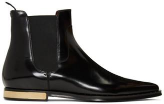 Dolce & Gabbana Black Hardware Heel Boot